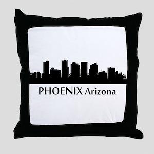 Phoenix Cityscape Skyline Throw Pillow