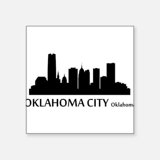 Oklahoma City Cityscape Skyline Sticker