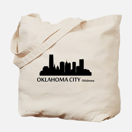 Oklahoma City Cityscape Skyline Tote Bag