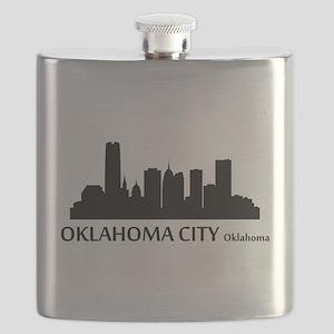 Oklahoma City Cityscape Skyline Flask