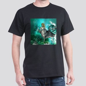 Beautiful mermaid with cute dolphin T-Shirt