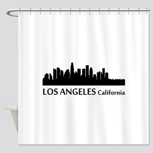 Los Angeles Cityscape Skyline Shower Curtain