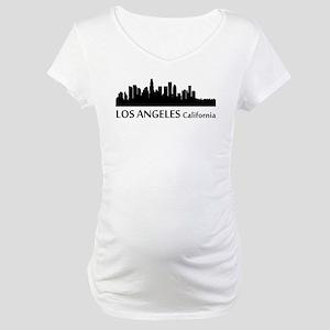 Los Angeles Cityscape Skyline Maternity T-Shirt