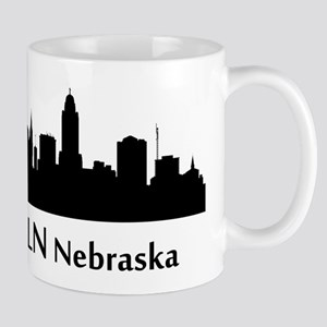 Lincoln Cityscape Skyline Mugs