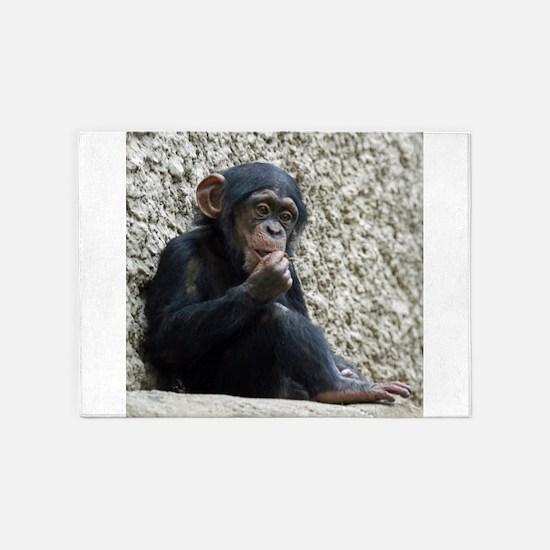 Chimpanzee003 5'x7'Area Rug