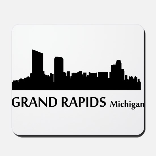 Grand Rapids Cityscape Skyline Mousepad