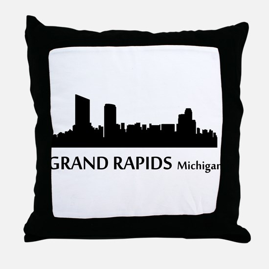 Grand Rapids Cityscape Skyline Throw Pillow