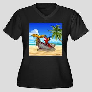 Parrots of the Caribbean Plus Size T-Shirt