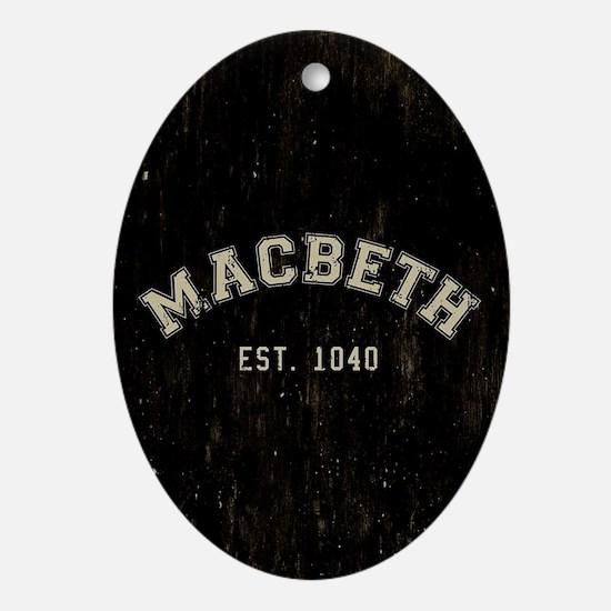 Retro Macbeth Oval Ornament