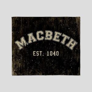 Retro Macbeth Throw Blanket