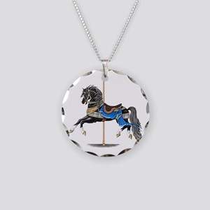 Black Carousel Horse Necklace