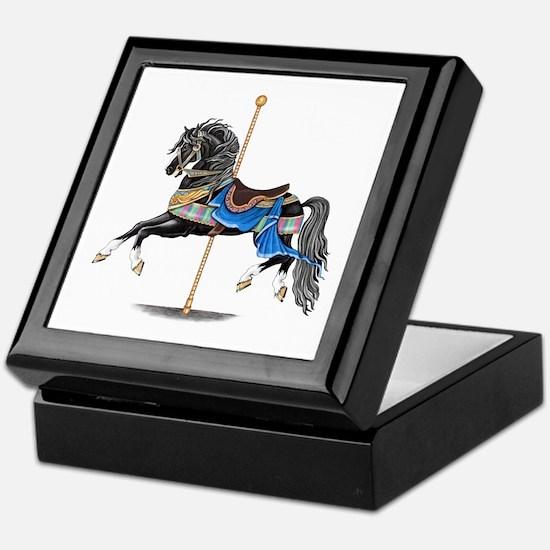 Black Carousel Horse Keepsake Box