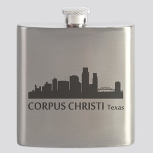 Corpus Christi Cityscape Skyline Flask