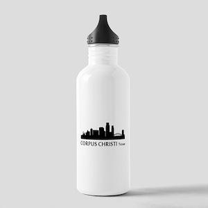 Corpus Christi Cityscape Skyline Water Bottle
