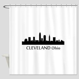 Cleveland Cityscape Skyline Shower Curtain