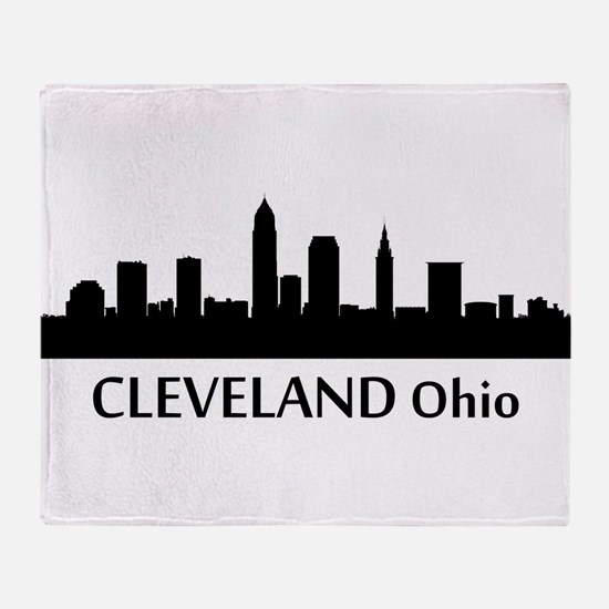 Cleveland Cityscape Skyline Throw Blanket