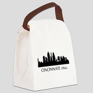 Cincinnati Cityscape Skyline Canvas Lunch Bag