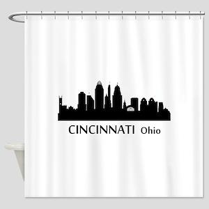Cincinnati Cityscape Skyline Shower Curtain