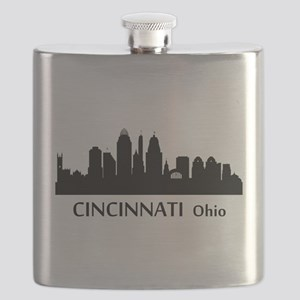 Cincinnati Cityscape Skyline Flask