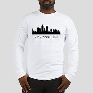 Cincinnati Cityscape Skyline Long Sleeve T-Shirt