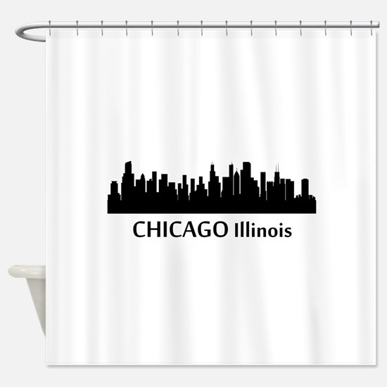 Chicago Cityscape Skyline Shower Curtain