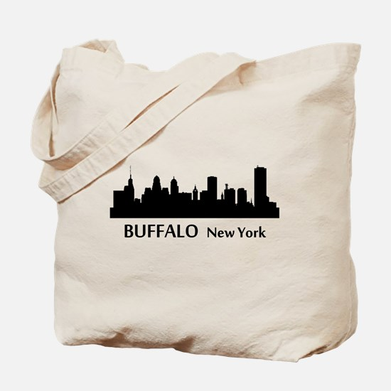 Buffalo Cityscape Skyline Tote Bag