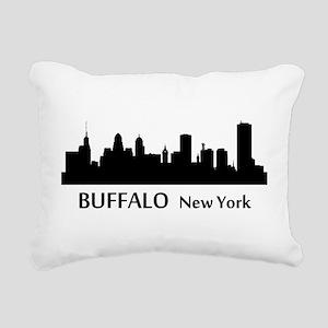 Buffalo Cityscape Skyline Rectangular Canvas Pillo