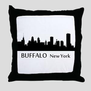 Buffalo Cityscape Skyline Throw Pillow