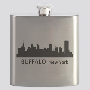 Buffalo Cityscape Skyline Flask