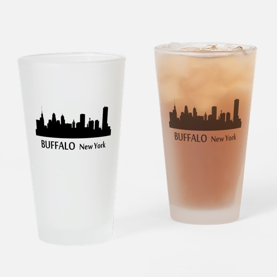 Buffalo Cityscape Skyline Drinking Glass