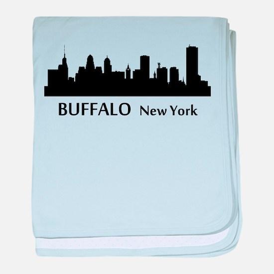 Buffalo Cityscape Skyline baby blanket