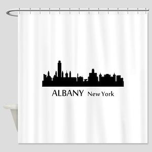 Albany Cityscape Skyline Shower Curtain