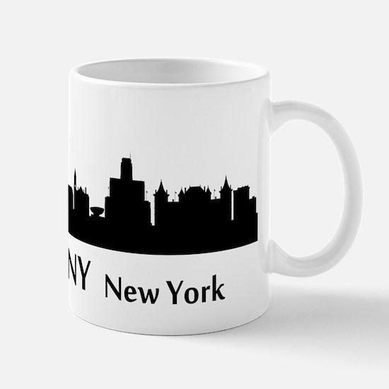 Albany Cityscape Skyline Mugs