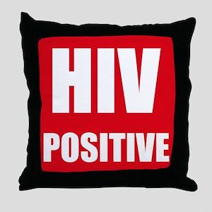 HIV Positive Throw Pillow