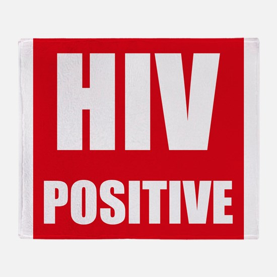 HIV Positive Throw Blanket