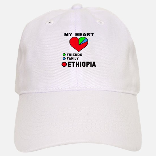 My Heart Friends, Family and Ethiopia Baseball Baseball Cap