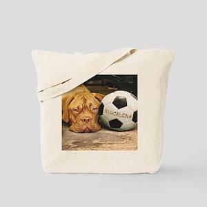 My dog loves Barcelona Tote Bag