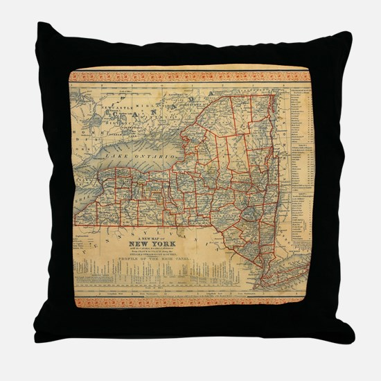Unique New york state Throw Pillow