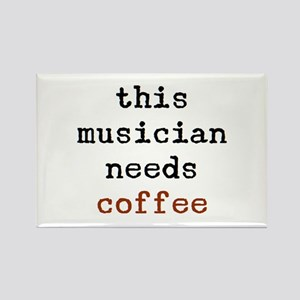 musician needs coffee Rectangle Magnet