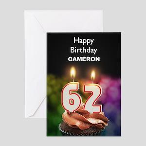 Happy 62nd birthday greeting cards cafepress 62nd birthday add a name cupcake greeting cards m4hsunfo