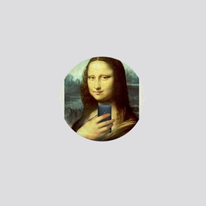 Mona Lisa Selfie Mini Button