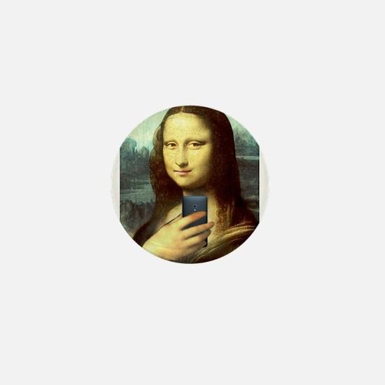 Mona Lisa Selfie Mini Button