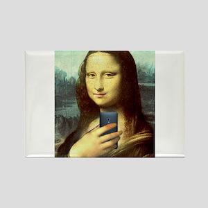 Mona Lisa Selfie Magnets