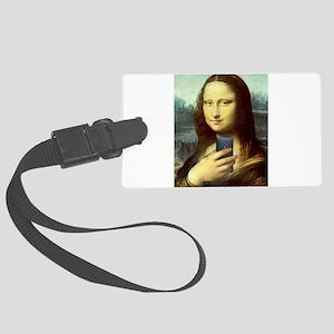 Mona Lisa Selfie Luggage Tag