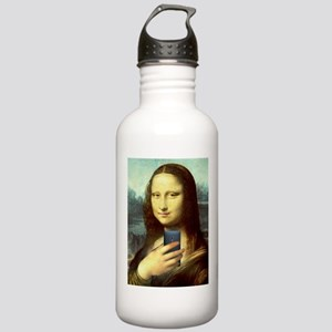 Mona Lisa Selfie Water Bottle