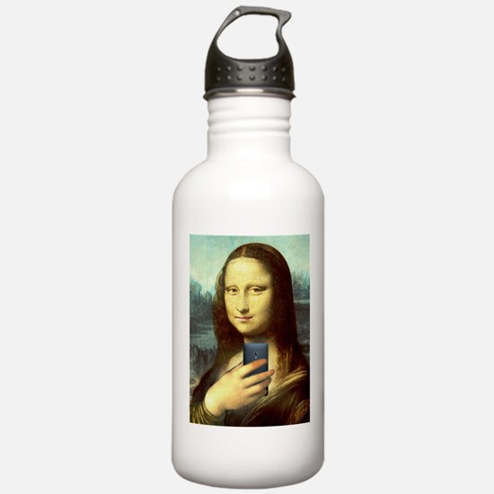 Mona Lisa Selfie Water Bottle