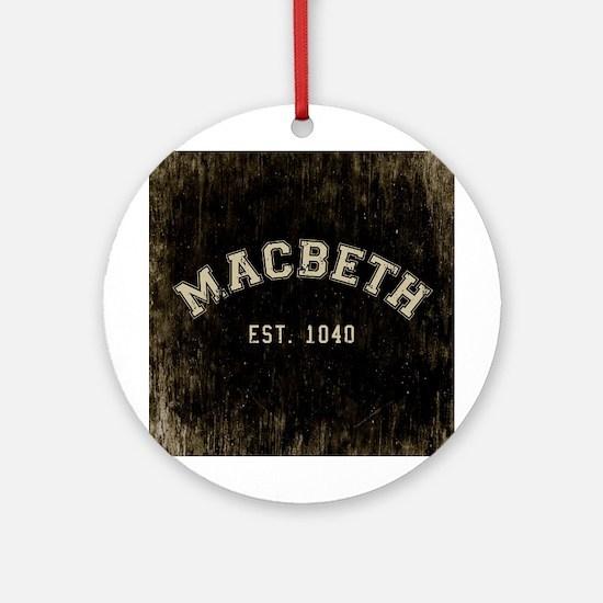Retro Macbeth Round Ornament