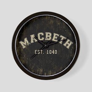 Retro Macbeth Wall Clock