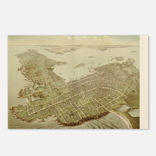Funny Newport ri Postcards (Package of 8)
