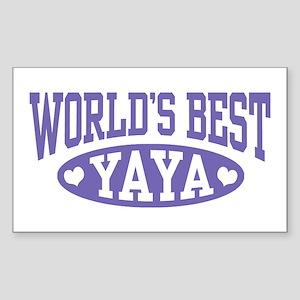 World's Best Yaya Sticker (Rectangle)